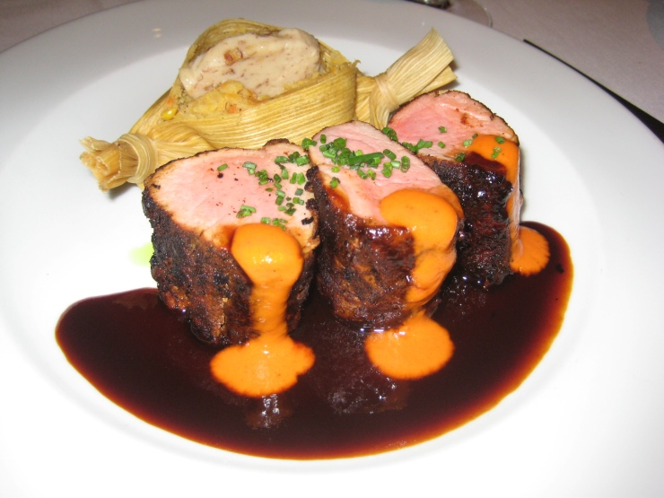 Spice Crusted Pork Tenderloin with Bourbon and Roasted Red Pepper ...