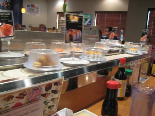 Kura Sushi's Conveyer Belt!