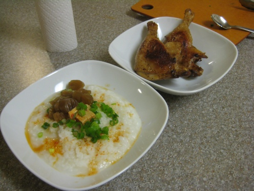 Congee with Duck Legs