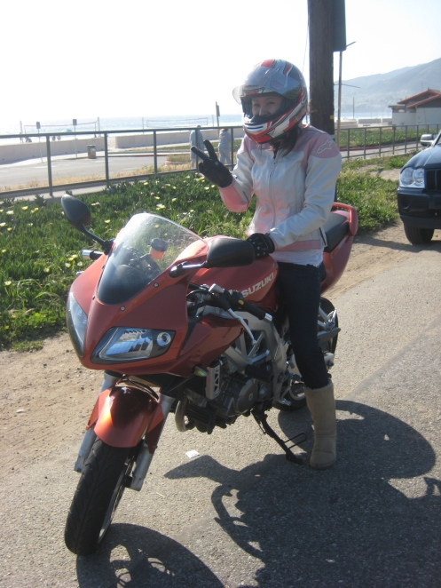 Jane on my SV650s, she looks good on it ;)