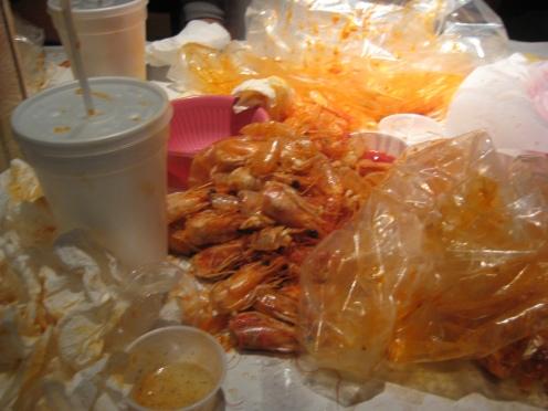 I just massacred 2 lbs of the shrimp population.
