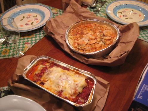 The Eggplant Parmigiana was amazing... I can eat two of those.